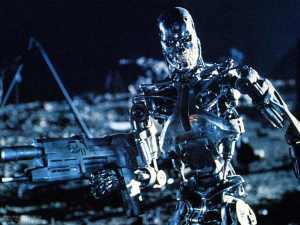 Endoskeleton robot from the film The Terminator.